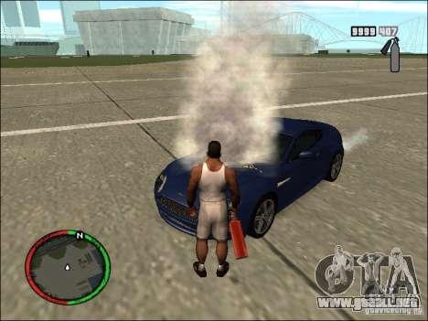 Auto extinguir un extintor de incendios para GTA San Andreas sucesivamente de pantalla