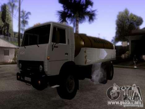 Camión KAMAZ 53212 leche para GTA San Andreas