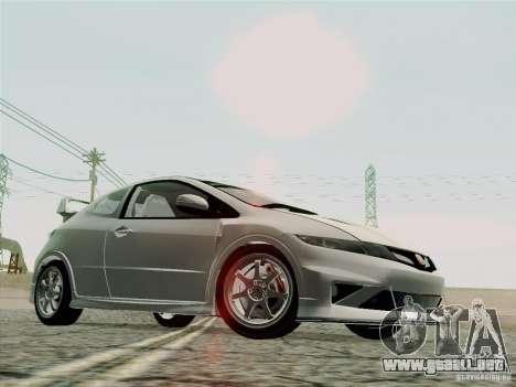 Honda Civic TypeR Mugen 2010 para la vista superior GTA San Andreas