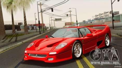 Ferrari F50 v1.0.0 Road Version para GTA San Andreas vista posterior izquierda