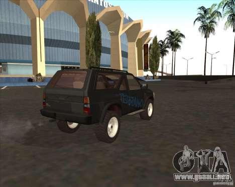 Nissan Terrano para GTA San Andreas left