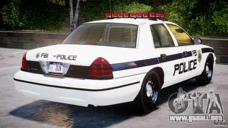 Ford Crown Victoria 2003 FBI Police V2.0 [ELS] para GTA motor 4