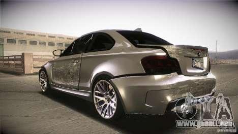 BMW 1M E82 Coupe 2011 V1.0 para vista inferior GTA San Andreas