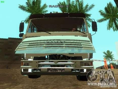 KAMAZ 6460 para vista lateral GTA San Andreas