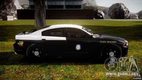 Dodge Charger 2012 Florida Highway Patrol [ELS] para GTA 4 vista hacia atrás