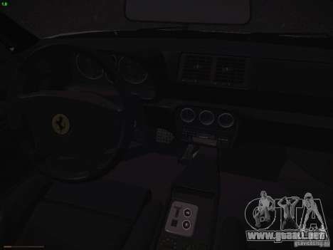 Ferrari F355 Targa para visión interna GTA San Andreas