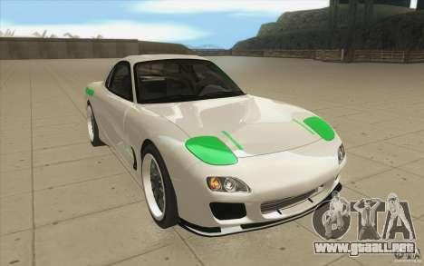 Mazda FD3S - Ebisu Style para GTA San Andreas vista hacia atrás