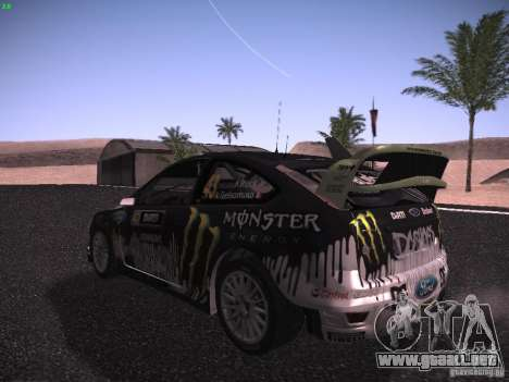 Ford Focus RS Monster Energy para la visión correcta GTA San Andreas