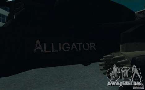 KA-52 ALLIGATOR v1.0 para GTA San Andreas vista hacia atrás