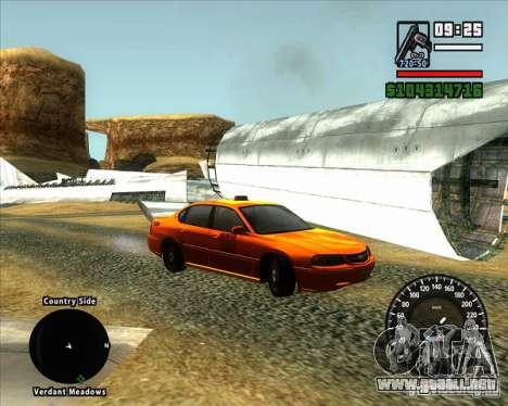 Velocímetro BMW nuevo para GTA San Andreas segunda pantalla