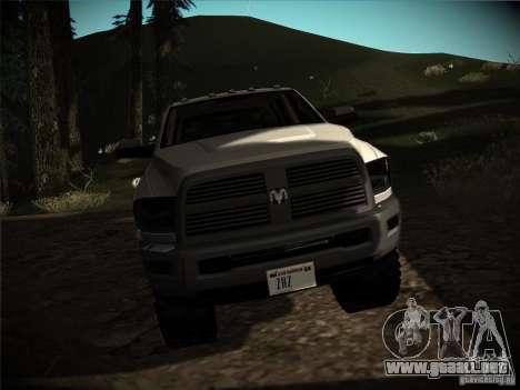 Dodge Ram 3500 4X4 para GTA San Andreas vista hacia atrás