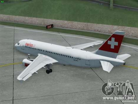 Airbus A319-112 Swiss International Air Lines para la vista superior GTA San Andreas