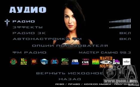 Las pantallas de arranque (Megan Fox) HD para GTA San Andreas séptima pantalla