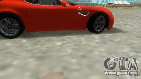 Alfa Romeo 8C Competizione para GTA Vice City vista posterior