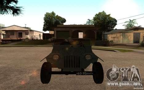 GAZ 67 b para la visión correcta GTA San Andreas