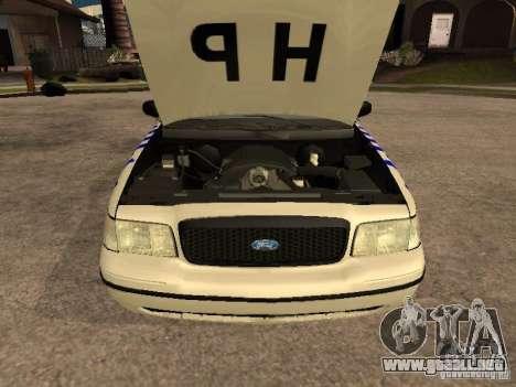 Ford Crown Victoria NSW Police para la visión correcta GTA San Andreas