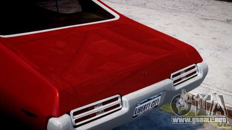 Pontiac GTO 1965 v1.1 para GTA 4 vista superior