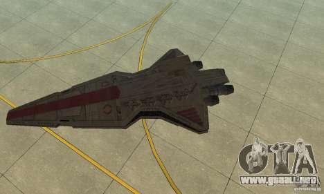 Republic Attack Cruiser Venator class v3 para GTA San Andreas left