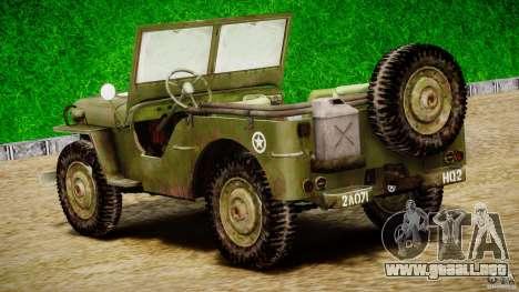 Jeep Willys [Final] para GTA 4 vista superior