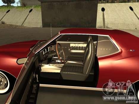 AMC AMX Stock para GTA San Andreas vista posterior izquierda