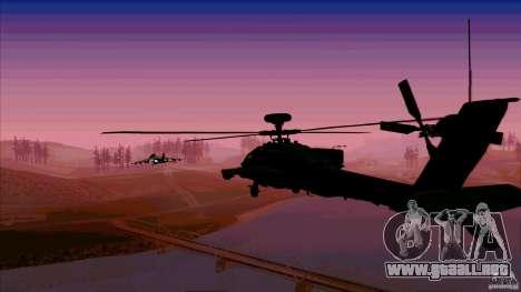 Trampas de calor para Hunter para GTA San Andreas quinta pantalla