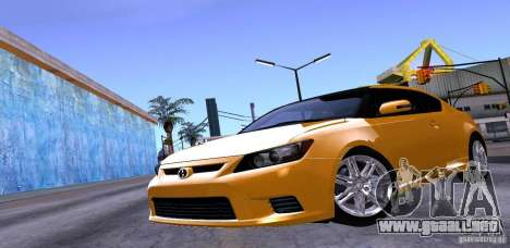 Scion Tc 2012 para la vista superior GTA San Andreas