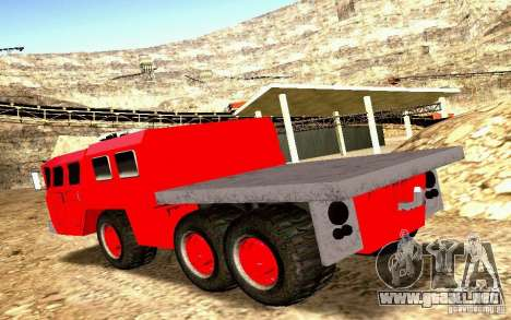 Versión estrecha Civil MAZ-7310 para visión interna GTA San Andreas