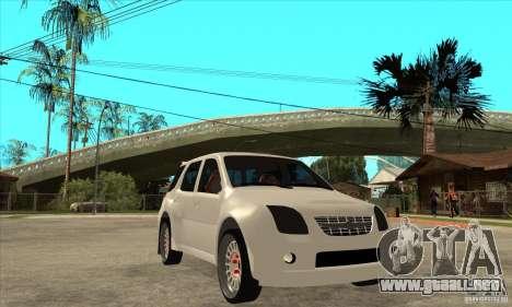 Suzuki Ignis Rally para GTA San Andreas vista hacia atrás