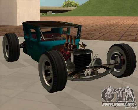 Ford model T 1925 ratrod para GTA San Andreas vista posterior izquierda