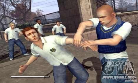 Arranque prediseñadas Bully Scholarship Edition para GTA San Andreas segunda pantalla