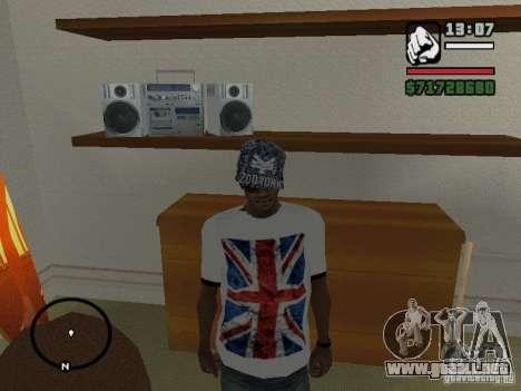 Camiseta con la bandera de Inglaterra para GTA San Andreas