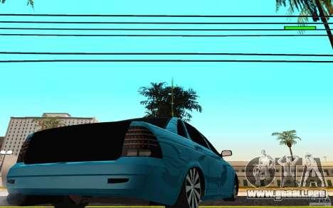 LADA 2170 Penza tuning para GTA San Andreas vista posterior izquierda