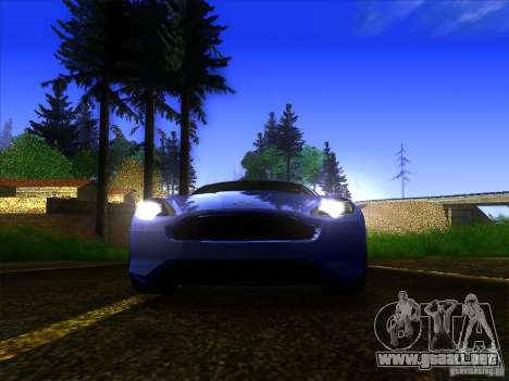 Aston Martin Virage 2011 Final para la vista superior GTA San Andreas