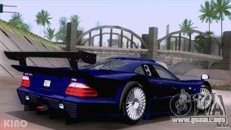 Mercedes-Benz CLK GTR Road Carbon Spoiler para GTA San Andreas left