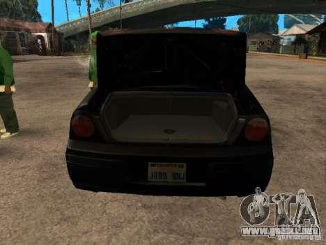 Chevrolet Impala Undercover para GTA San Andreas vista hacia atrás