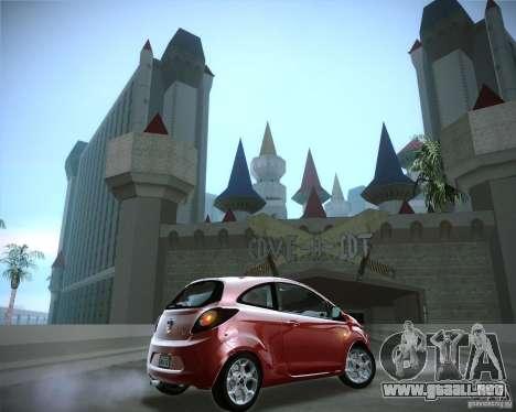 Ford Ka 2011 para la visión correcta GTA San Andreas