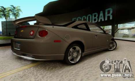 Chevrolet Cobalt SS para GTA San Andreas vista posterior izquierda