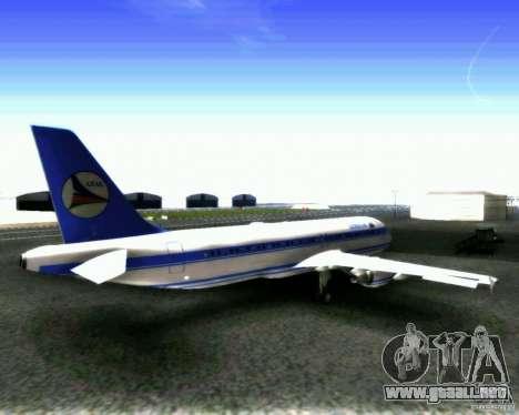 Airbus A-320 Azerbaijan Airlines para la visión correcta GTA San Andreas