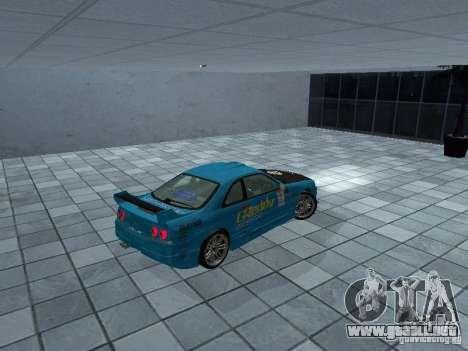Nissan Skyline R 33 GT-R para GTA San Andreas vista posterior izquierda