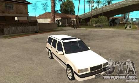 Volvo 850 GLT para GTA San Andreas vista hacia atrás