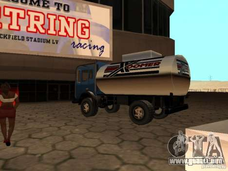 Tanque duna para GTA San Andreas vista posterior izquierda