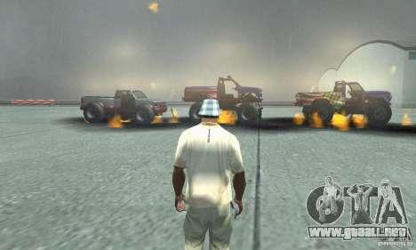 La bomba atómica para GTA San Andreas sucesivamente de pantalla