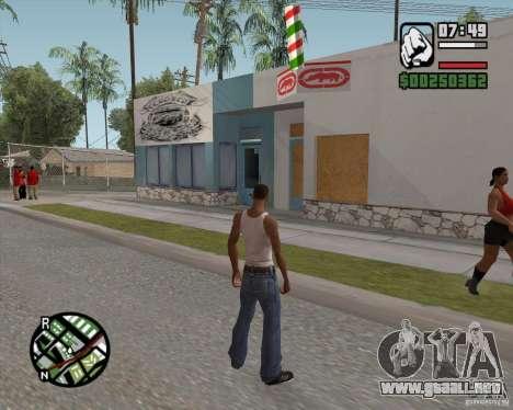 Ecko tienda para GTA San Andreas segunda pantalla