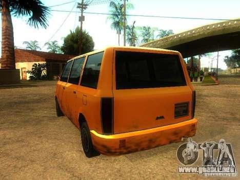 Taxi Moonbeam para GTA San Andreas vista posterior izquierda