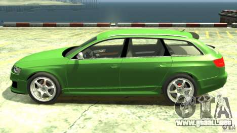 Audi RS6 Avant 2010 Stock para GTA 4 left