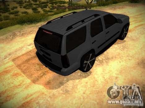 Chevrolet Tahoe HD Rimz para GTA San Andreas vista hacia atrás