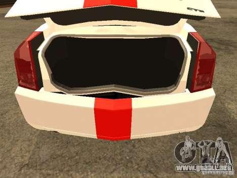 Cadillac CTS 2003 Tunable para GTA San Andreas vista hacia atrás