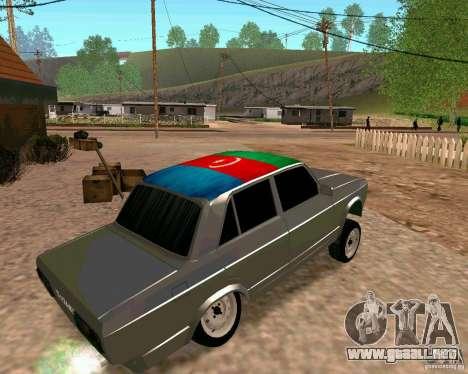 VAZ 2107 completo para GTA San Andreas left
