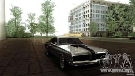 Mercury Cougar Eliminator 1970 para visión interna GTA San Andreas
