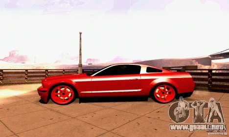 Shelby GT500 KR para visión interna GTA San Andreas